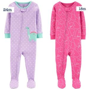 NWT Carter's cotton footies sizes 18m & 24m